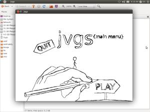 JVGS main menu