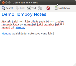 Link di Tomboy Notes