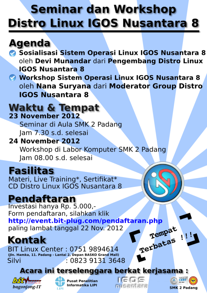 Seminar & Workshop Distro Linux IGOS Nusantara 8