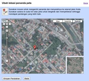 Ubah lokasi Penanda Peta 2
