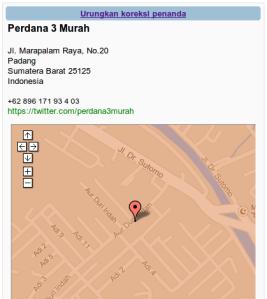 Ubah lokasi Penanda Peta 3