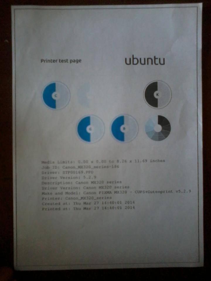 kesalahan bukan pada Linux anda, tapi pada printernya :p