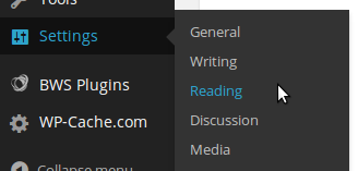 Klik Menu Settings --> Reading