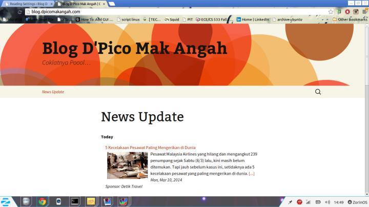 Halaman depan web