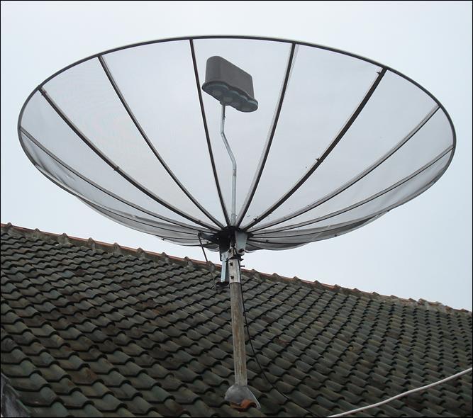 Posisi Parabola kebetulan sama dengan parabola di rumah ortu :)