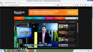 Tayangan Bloomberg Tv Indonesia di websitenya