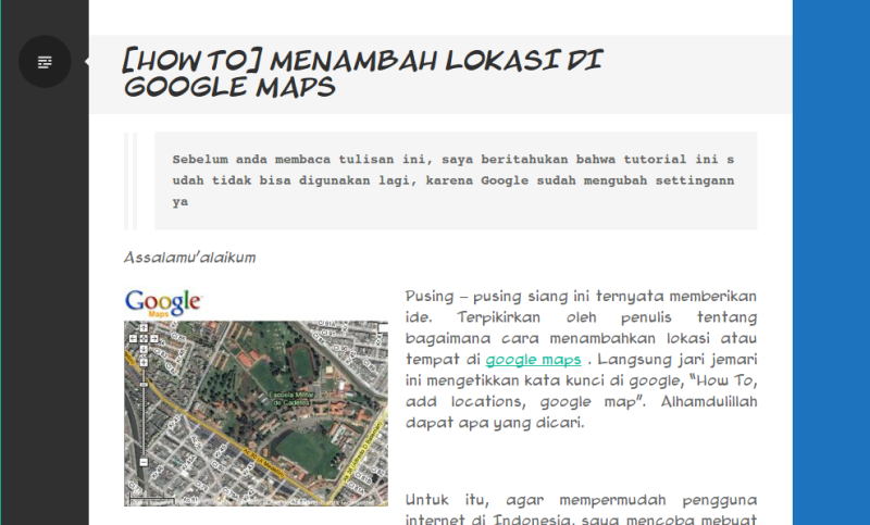 Menambah lokasi di Google Maps