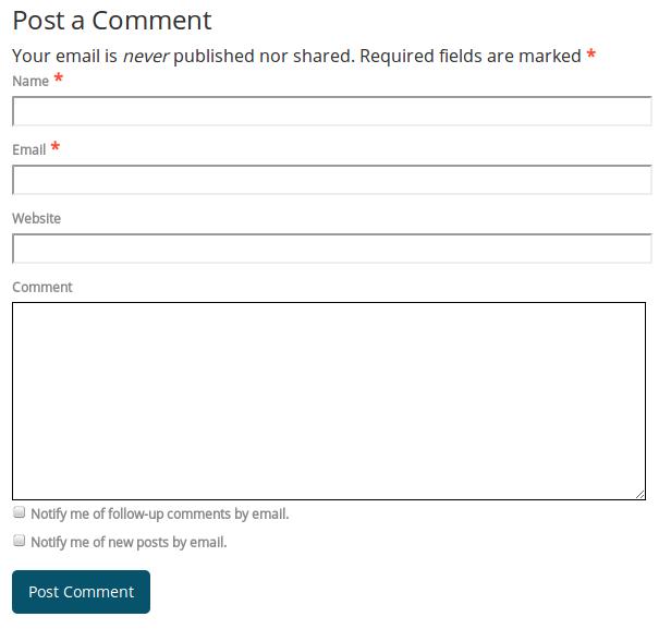 Kolom komentar CMS WordPress