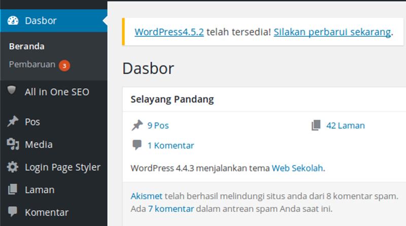 Cara Mudah Update CMS Wordpress