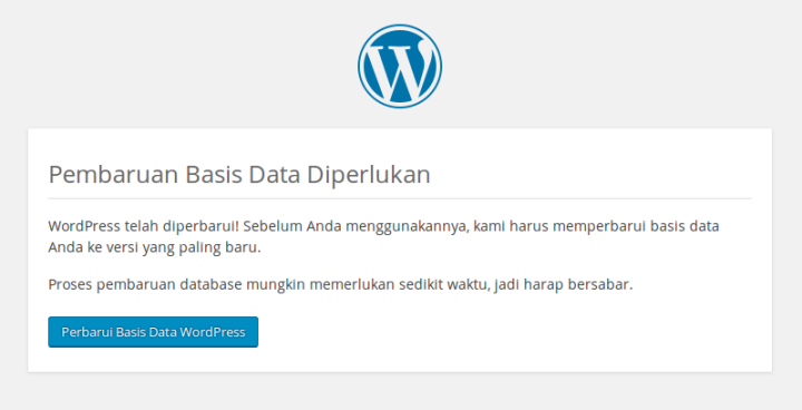 Pembaruan Basis Data Diperlukan